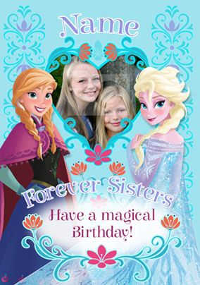 Disney's Frozen Birthday Card - Forever Sisters Photo Upload
