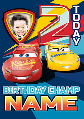 Lightning Mcqueen Birthday Card