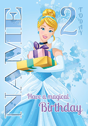 Cinderella 2 Age Birthday Card
