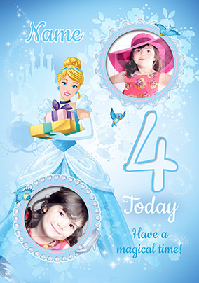 Cinderella Age 4 Photo Card