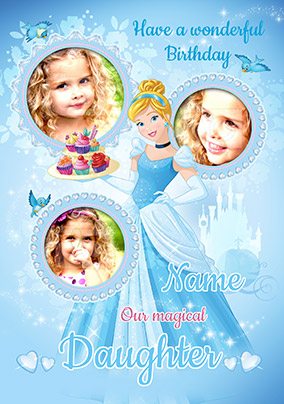 Cinderella Photo Card For Daughter