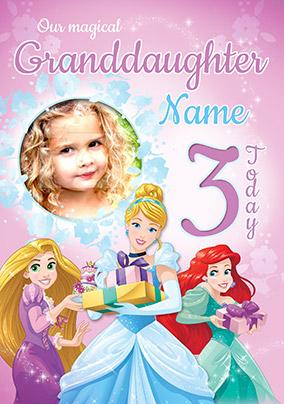 Disney Princess Granddaughter Birthday Card