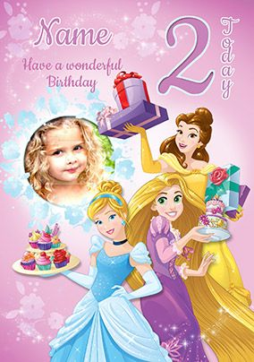 Disney Princess Photo Birthday Card