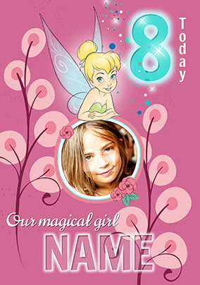 Tinker Bell Age 8 Photo Birthday Card Shortlist This