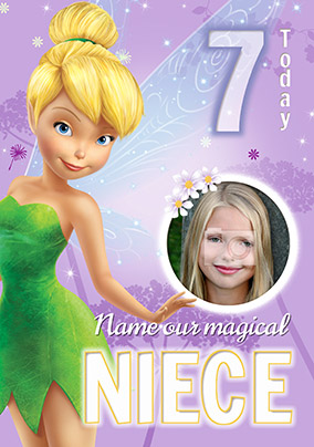 Tinker Bell Photo Birthday Card for Niece