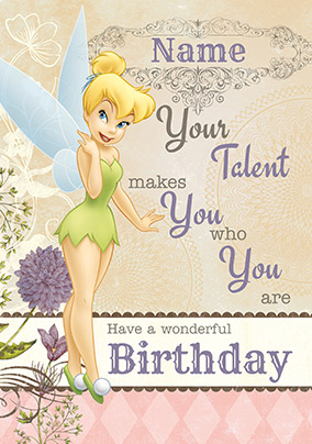 Tinker Bell Wonderful Birthday Card NO Preview Image Is Not Found
