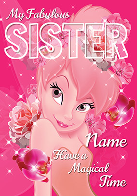 Tinker Bell Sister Birthday Card NO Preview Image Is Not Found