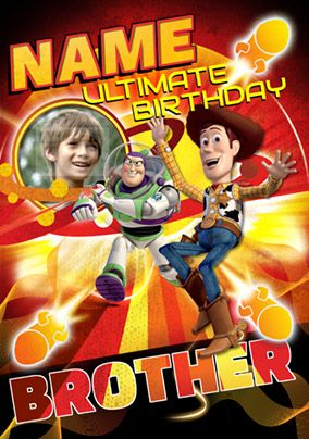 Disney Toy Story - Birthday Card Brother