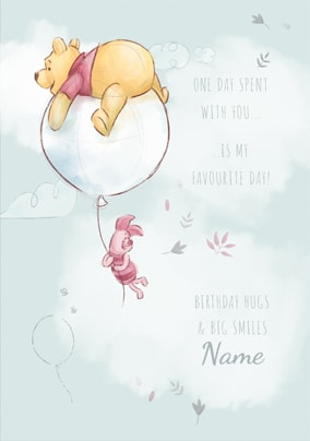 Pooh Amp Piglet Favourite Day Birthday Card Funky Pigeon