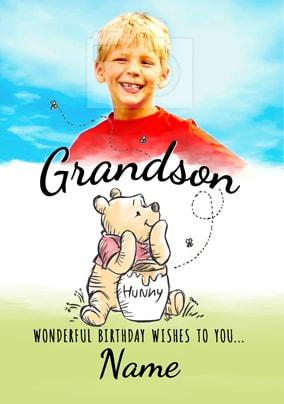 Pooh Birthday Card Grandson