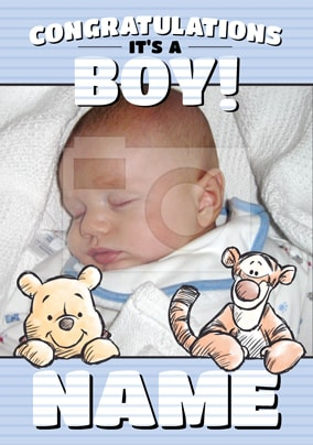 New Baby Boy Cards | Funky Pigeon