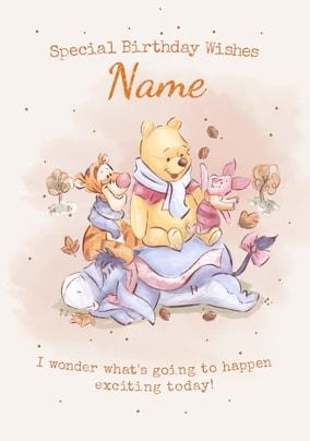Pooh Tigger Birthday Card