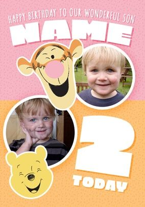 Age 2 Pooh & Tigger Birthday Card Son