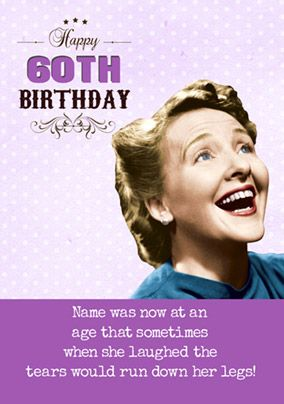 Emotional Rescue - 60th Birthday Card Tears of Laughter