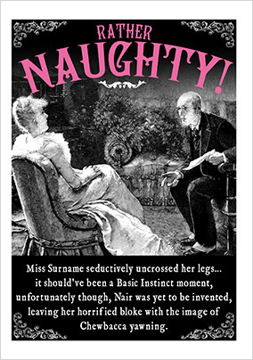 Rather Naughty Humorous Birthday Card NO Preview Image Is Not Found