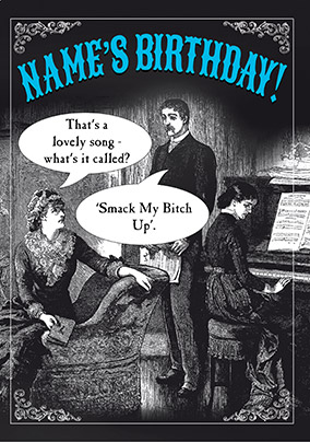 Lovely Song Humorous Birthday Card