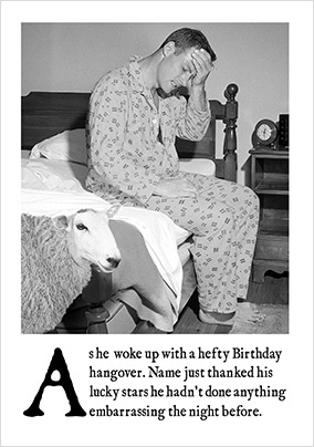 Hefty Birthday Hangover Card