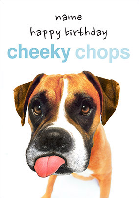 Cheeky Chops Personalised Birthday Card