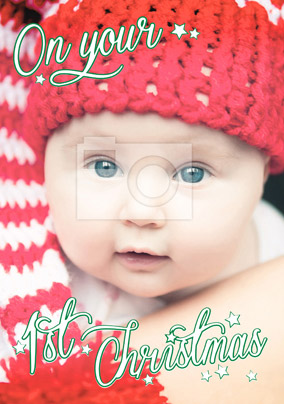 Baby's 1st Christmas Card Photo Upload - Essentials