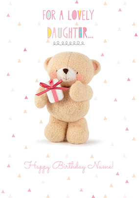 For A Lovely Daughter Personalised Birthday Card