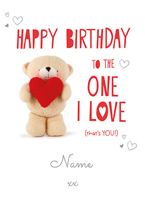 To The One I Love Personalised Birthday Card NO Preview Image Is Not Found