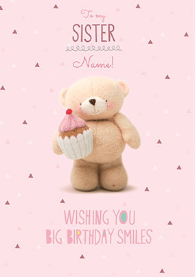 Sweet Sister Personalised Birthday Card NO Preview Image Is Not Found
