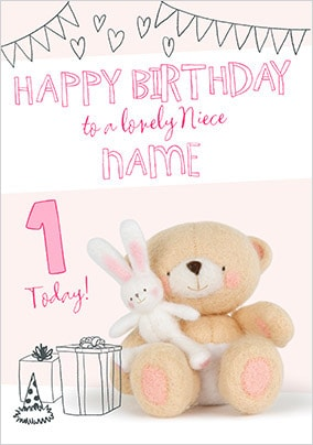 Forever Friends - Niece Personalised Birthday Card