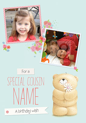 Special Cousin Photo Forever Friends Birthday Card