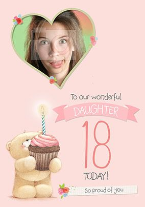 Daughter 18th Photo Forever Friends Birthday Card