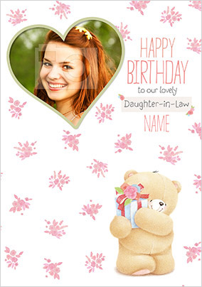 Daughter In Law Photo Forever Friends Birthday Card