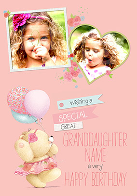 Great Granddaughter Photo Forever Friends Birthday Card