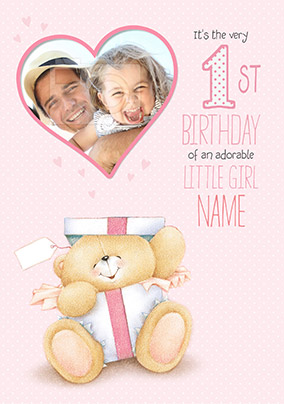 Little Girl 1 Today Photo Forever Friends Birthday Card