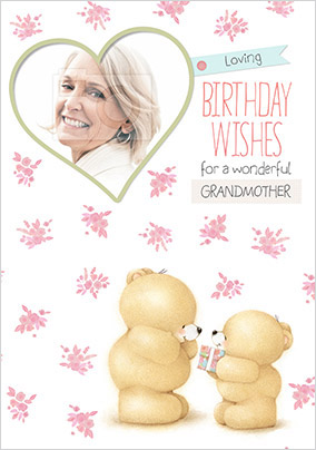 Grandmother Photo Forever Friends Birthday Card