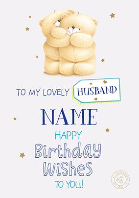 More Like This Lovely Husband Forever Friends Birthday Card
