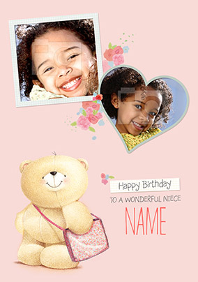 Niece Photo Forever Friends Birthday Card