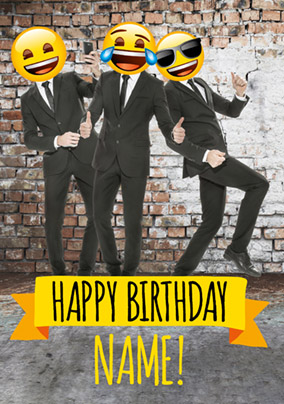 Emoji - Birthday Card Jazzy Lads