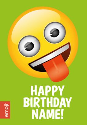 Emoji - Birthday Card Roll around Laughing