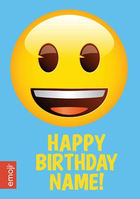 Emoji - Birthday Card Smiley