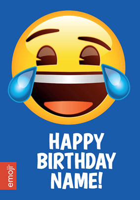 Emoji Birthday Card Tears Of Joy Funky Pigeon