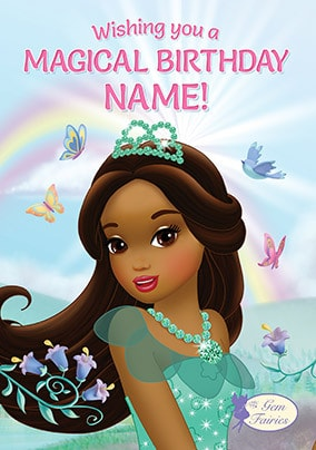 Gem Fairies Magical Birthday Personalised Card