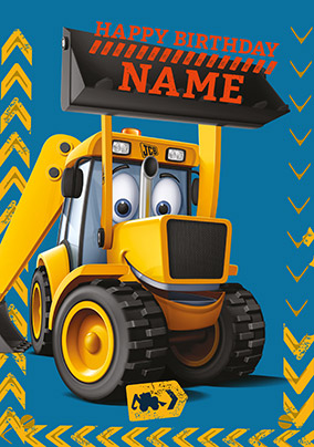 Happy Birthday Joey JCB Personalised Card