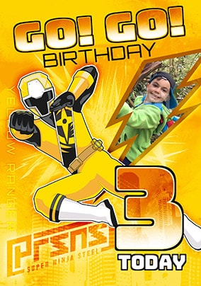 3 Today Yellow Power Ranger Photo Card
