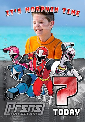 7 Today Power Rangers Photo Card