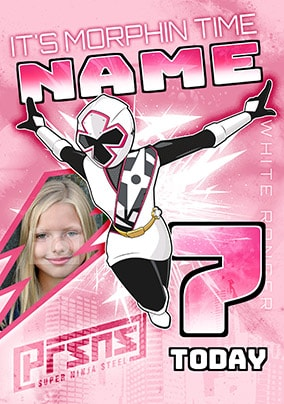7 Today White Power Ranger Photo Card
