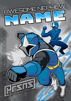 Awesome Nephew Power Rangers Personalised Card