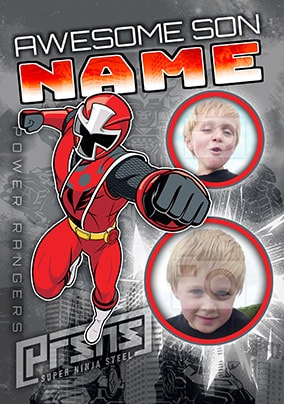 Awesome Son Power Rangers Photo Card