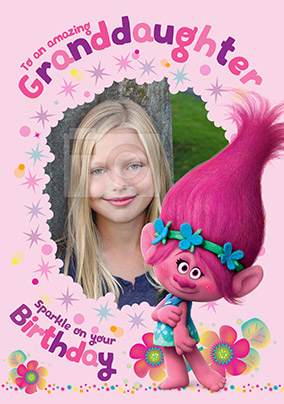 Personalised Birthday Card Daughter Granddaughter Niece Girl Trolls