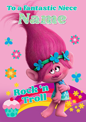 Trolls Niece Birthday Card NO Preview Image Is Not Found