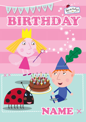 Kids Birthday Cards Personalised Ben And Holly S Little Kingdom