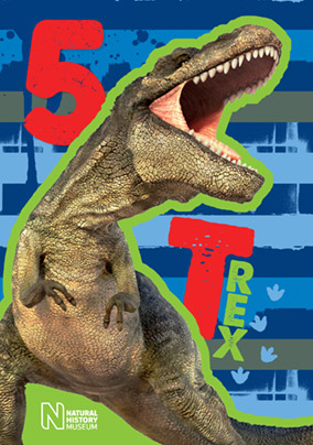 Birthday Card T Rex 5 Today NO Preview Image Is Not Found